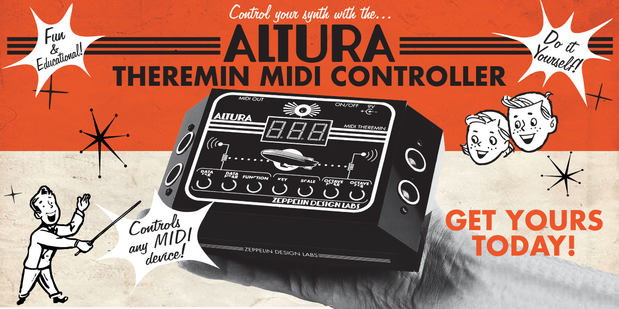 News - Arduino-based modules, Theremin-style MIDI controller
