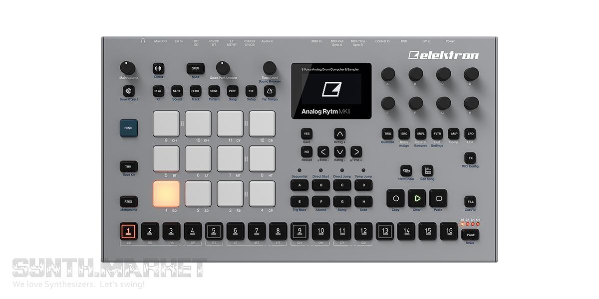 elektron analog rytm mkii drum machine percussion synthesizer. Black Bedroom Furniture Sets. Home Design Ideas